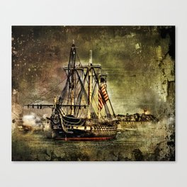 Tall ship USS Constitution Canvas Print