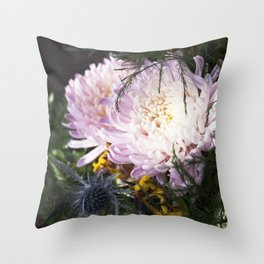 When the sunlight hits     Fresh Cut Flowers Throw Pillow