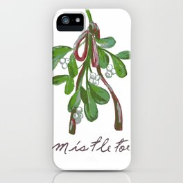 Under  the Mistletoe botanical  iPhone Case