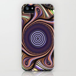 Colourful abstract in motion iPhone Case