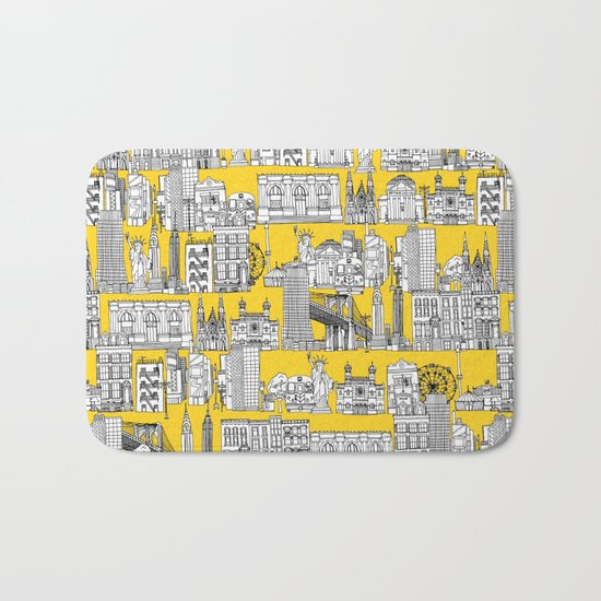 New York yellow Bath Mat