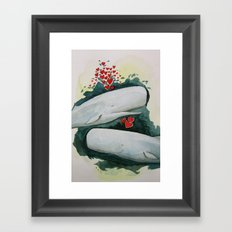 Whale You be My Valentine? Framed Art Print