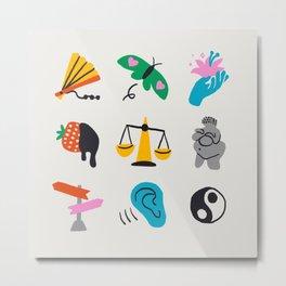 Libra Emoji Metal Print