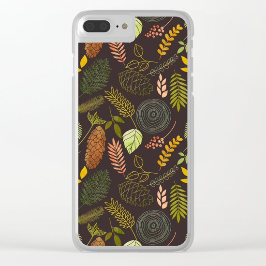 My favorite color is october- autumnal leaves pattern Clear iPhone Case