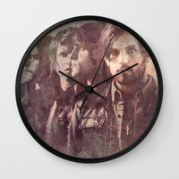 coldplay Wall Clocks featuring kings of leon by Nechifor Ionut