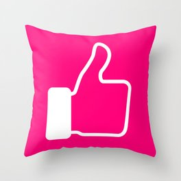 #iLikePink Throw Pillow