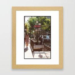 Photo: Sunday in Paris (21 July 2013) Framed Art Print
