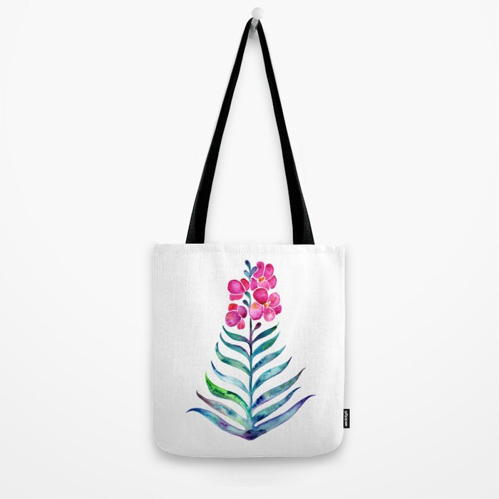 Blooming Orchid – Fuchsia & Indigo Palette Tote Bag