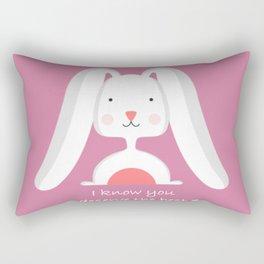 Cute pink Rabbit Rectangular Pillow