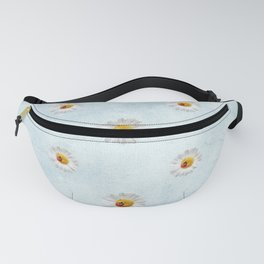 Daisies in love- blue pattern Fanny Pack