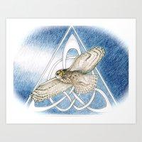 Great Horned Owl soft framed Art Print