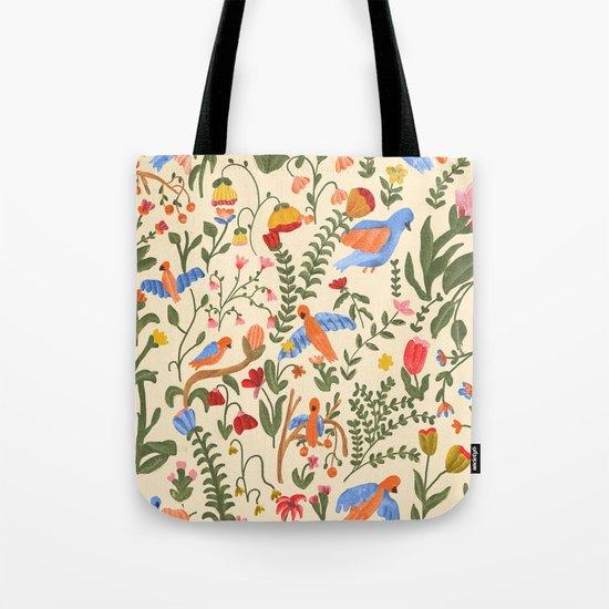Tropical Garden Pattern Tote Bag
