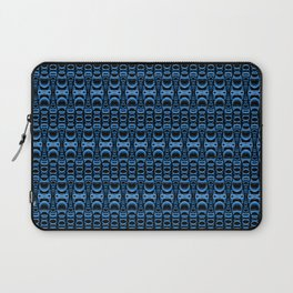 Dividers 07 in Blue over Black Laptop Sleeve