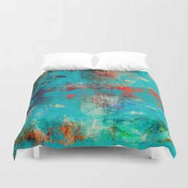 Aztec Turquoise Stone Abstract Texture Design Art Duvet Cover