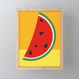 Melon Slice Framed Mini Art Print