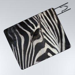 Zebra Eye Picnic Blanket