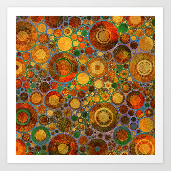 Abstract Circles Pattern 2 Art Print