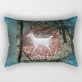 The white deer of winter Rectangular Pillow