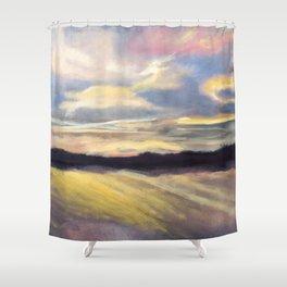 Summer Sunset Over Lake Winnipesaukee in New Hampshire Shower Curtain