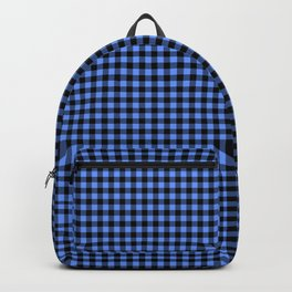 Mini Black and Sky Blue Cowboy Buffalo Check Backpack