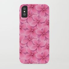 Lilac Flowers Slim Case iPhone X