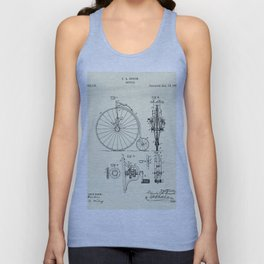 Bicycle-1887 Unisex Tank Top