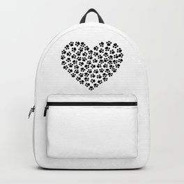 Paw Print Love Backpack