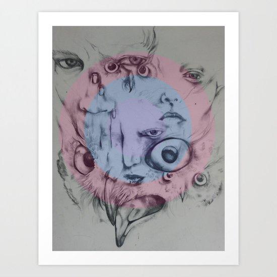 Single hearing Art Print