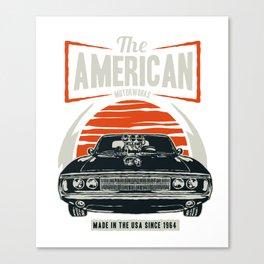 American Motorworks Vintage Muscle Car Canvas Print