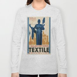 1938 Art deco Textile Expo Brussels Long Sleeve T-shirt