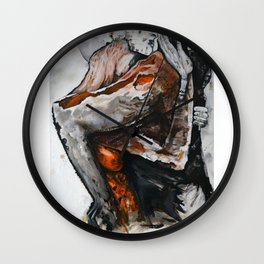 Surreal lovers Wall Clock