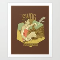 swag Art Prints featuring SWAG by RJ Artworks