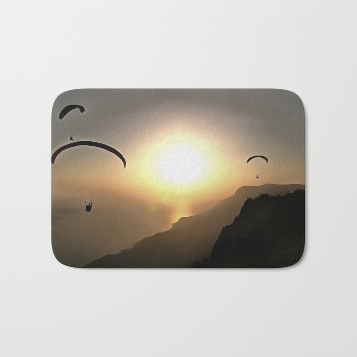Paragliders Flying Without Wings Bath Mat