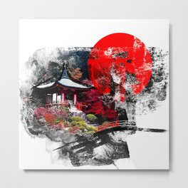 Abstract Kyoto Metal Print