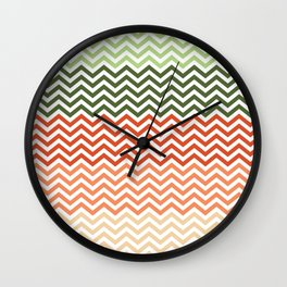 Carrot Chevron Wall Clock