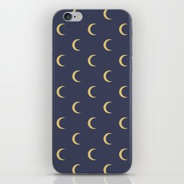 Crescent Moon Sky Pattern iPhone Skin