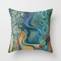 merlin Throw Pillows featuring Merlin by Dena Nord