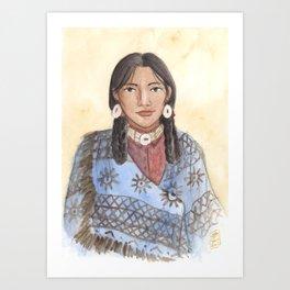 Her Mother's Blanket Art Print