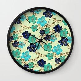 Multicolor elegant floral texture Wall Clock