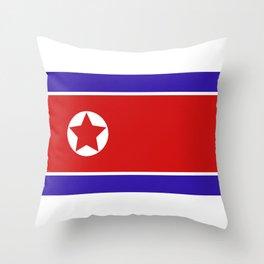 north korea flag Throw Pillow