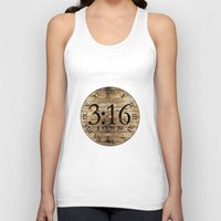 bible verses Tank Tops featuring LOST VERSES FOUND by Miriam Hahn