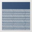Herringbone Boarder Navy by projectm