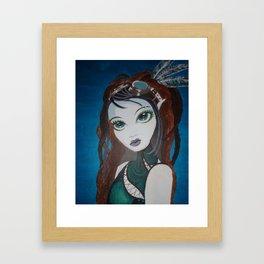 Steampunk archer (artiest Alysia Kaiser) Framed Art Print