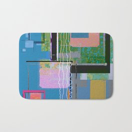 Patience with Nothing Contemporary Abstract Bath Mat
