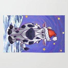 Cow Christmas Rug