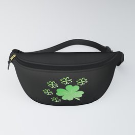 Shamrock, lucky charm, New Year, St. Patrick's Day Fanny Pack