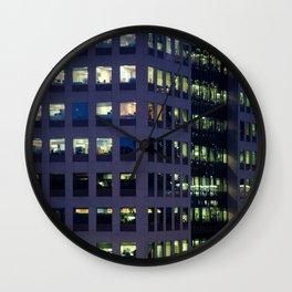Neon Hive. Wall Clock