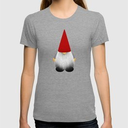 Christmas cute gnome with long white beard and red hat T-shirt