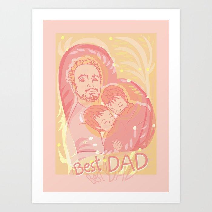 Best DAD Art Print