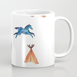 Tribal Indian Art and Teepee Pattern Coffee Mug